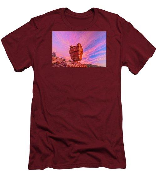 Balanced Precariously  Men's T-Shirt (Athletic Fit)