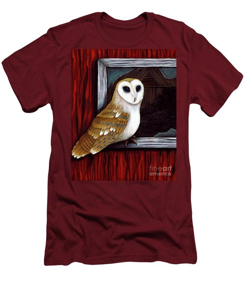 Barn Owl Beauty Men's T-Shirt (Athletic Fit)