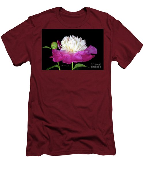 Beautiful Fancy Peony Men's T-Shirt (Athletic Fit)