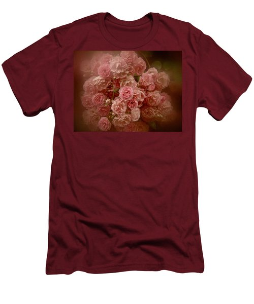 Men's T-Shirt (Slim Fit) featuring the photograph Beautiful Roses 2016 No. 3 by Richard Cummings