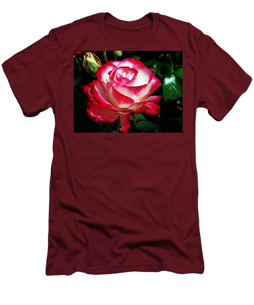 Men's T-Shirt (Slim Fit) featuring the photograph Beauty Rose by Joseph Frank Baraba