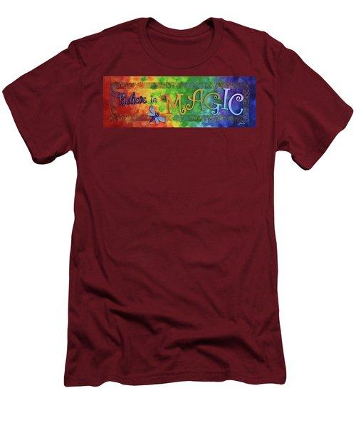 Believe In Magic Men's T-Shirt (Slim Fit) by Agata Lindquist