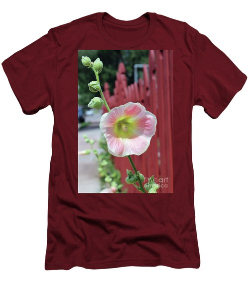 Beyond The Garden Fence Men's T-Shirt (Slim Fit) by Alycia Christine