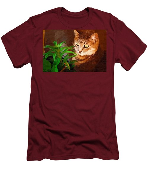 Men's T-Shirt (Slim Fit) featuring the photograph Bink by Donna Bentley