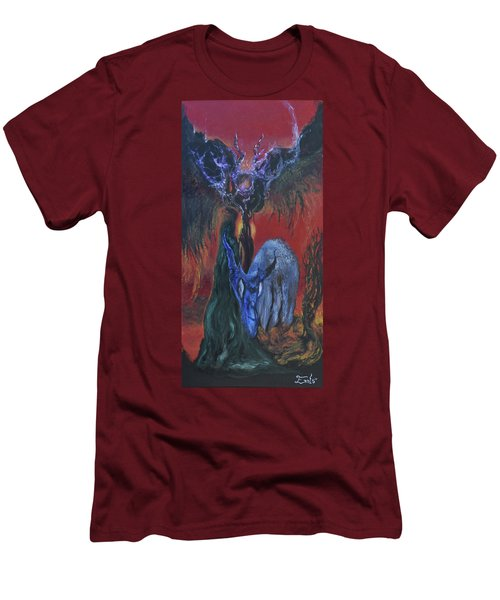Men's T-Shirt (Slim Fit) featuring the painting Blackberry Thorn Psychosis by Christophe Ennis