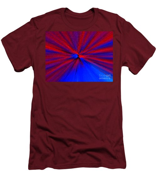 Men's T-Shirt (Slim Fit) featuring the photograph Block Zoom by Trena Mara