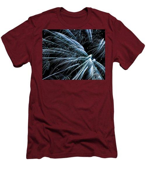 Blue Fairy Fireworks #0710_3 Men's T-Shirt (Athletic Fit)