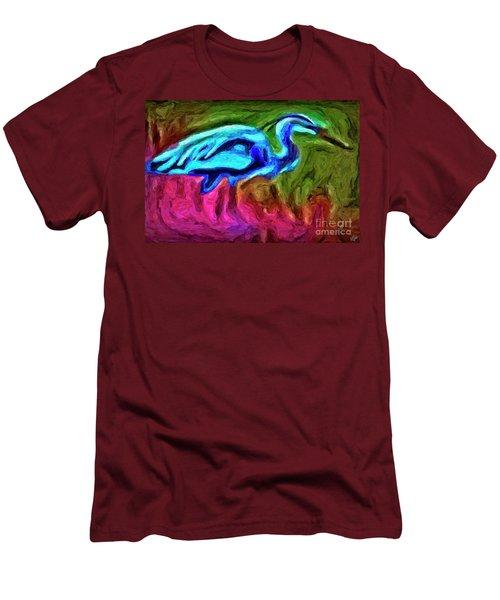 Men's T-Shirt (Slim Fit) featuring the photograph Blue Heron by Walt Foegelle