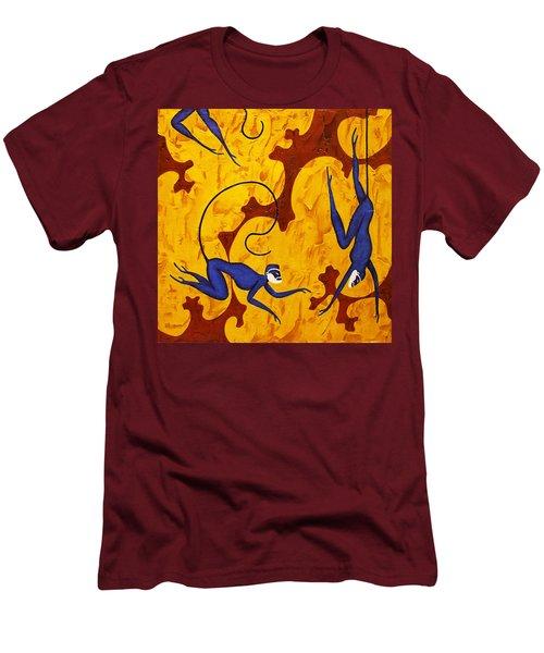 Blue Monkeys No. 45 Men's T-Shirt (Athletic Fit)