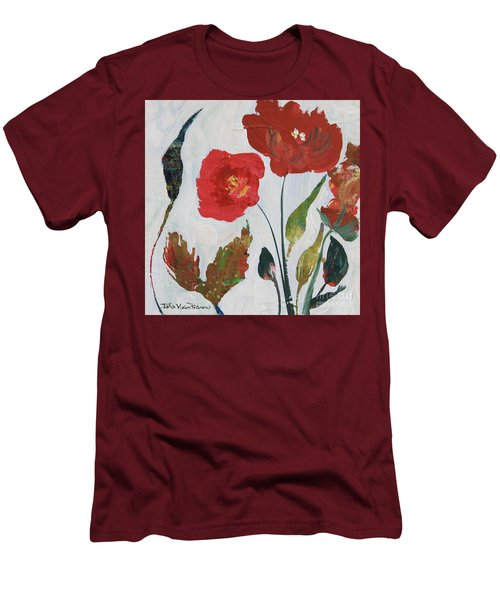 Men's T-Shirt (Athletic Fit) featuring the painting Bold Blooms by Robin Maria Pedrero