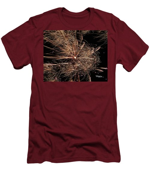 Men's T-Shirt (Athletic Fit) featuring the photograph Bold Burst #0711 by Barbara Tristan