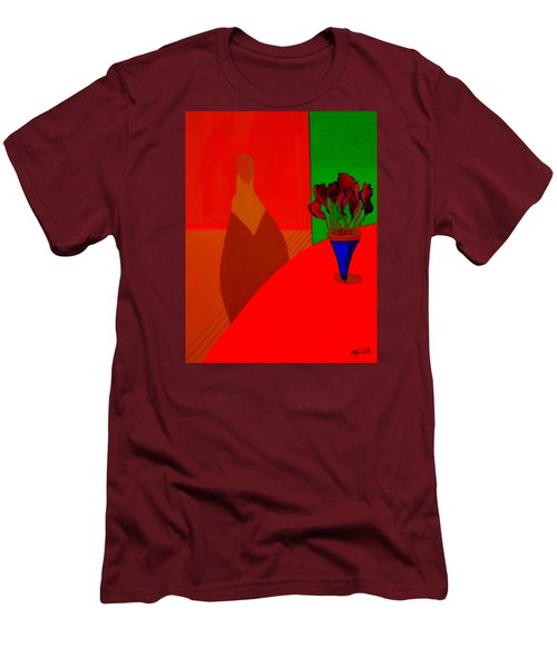 Men's T-Shirt (Slim Fit) featuring the painting Boris by Bill OConnor