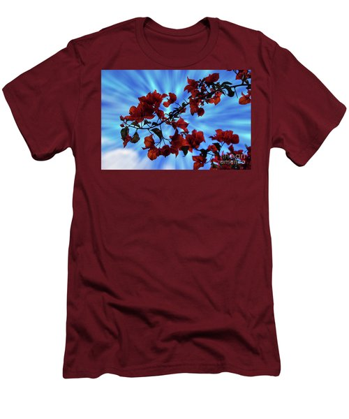 Bougainvillea At Joe's Secret Garden Iv Men's T-Shirt (Slim Fit) by Al Bourassa