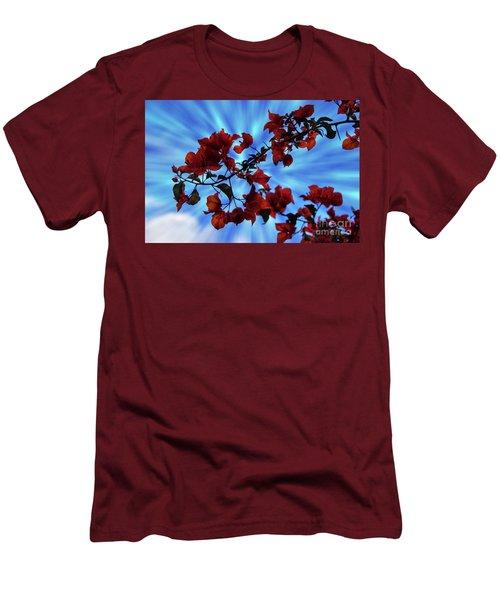 Bougainvillea At Joe's Secret Garden Iv Men's T-Shirt (Athletic Fit)