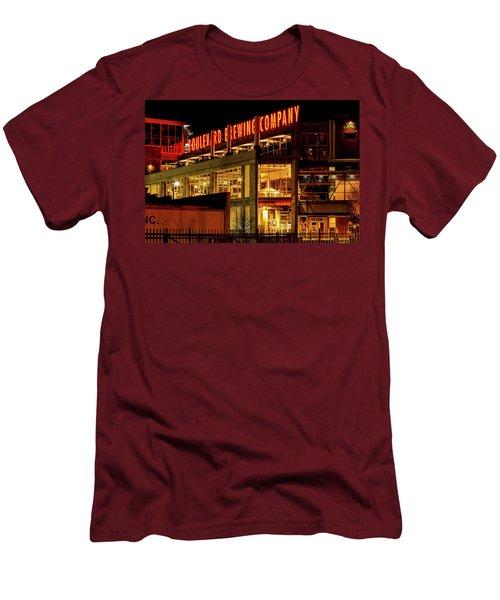 Boulevard Beer Sign Men's T-Shirt (Slim Fit) by Steven Bateson
