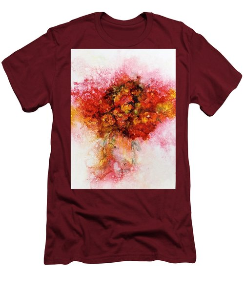 Bouquet In Red Men's T-Shirt (Athletic Fit)