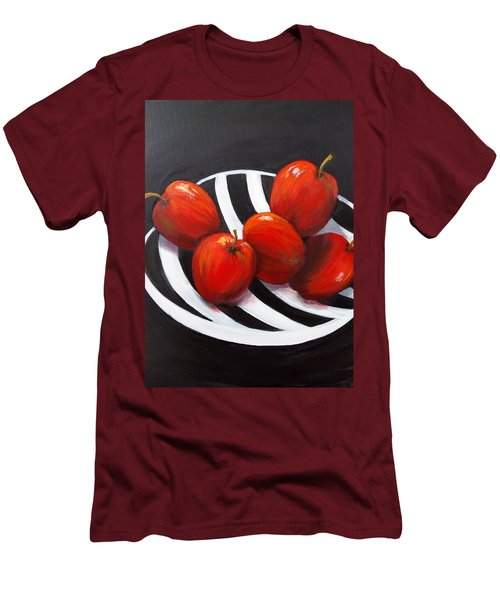 Bowl Of Shiny Apples Men's T-Shirt (Athletic Fit)