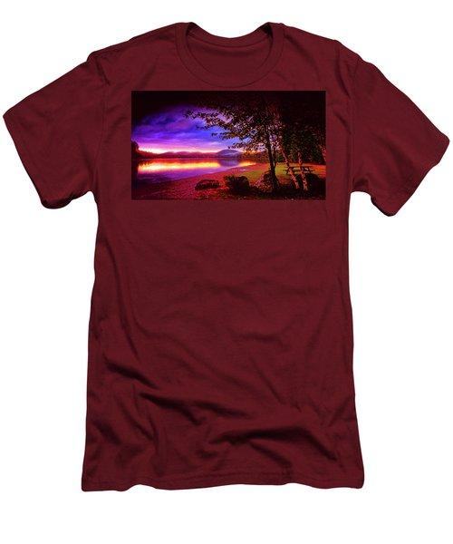 Bretton Pond Rest Area In Livermore Maine Men's T-Shirt (Athletic Fit)