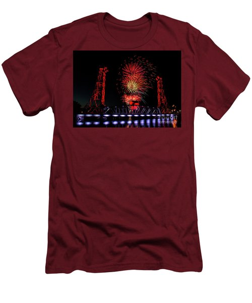 Men's T-Shirt (Slim Fit) featuring the photograph Bridge 13 In Welland by JT Lewis