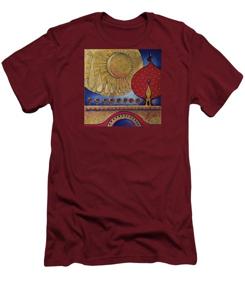 Bridge Between Sunrise And Moonrise Men's T-Shirt (Slim Fit) by Anna Ewa Miarczynska