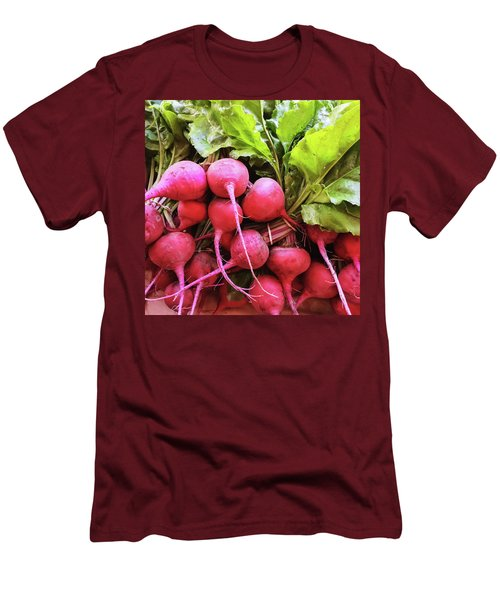 Bright Fresh Radish Men's T-Shirt (Slim Fit) by GoodMood Art