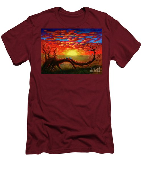 Bright Sunset Men's T-Shirt (Athletic Fit)