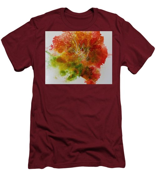 Men's T-Shirt (Slim Fit) featuring the painting Burst Of Nature by Carolyn Rosenberger