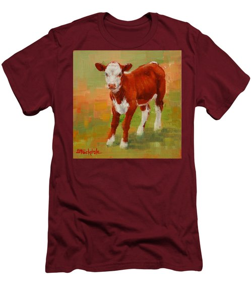 Calf Miniature Men's T-Shirt (Slim Fit) by Margaret Stockdale