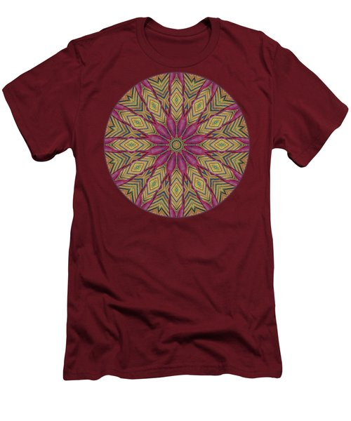 Canna Leaf - Mandala - Transparent Men's T-Shirt (Slim Fit) by Nikolyn McDonald