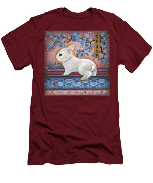 Carpe Diem Rabbit Men's T-Shirt (Slim Fit) by Retta Stephenson