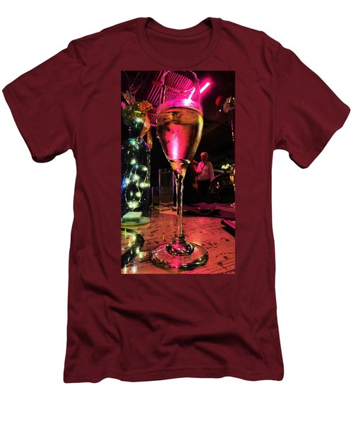 Men's T-Shirt (Slim Fit) featuring the photograph Champagne And Jazz by Lori Seaman
