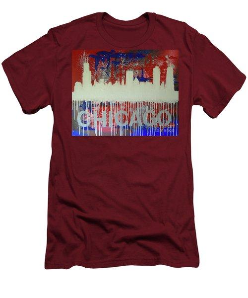 Chicago Drip Men's T-Shirt (Slim Fit) by Melissa Goodrich