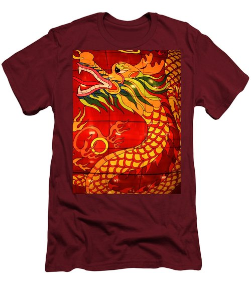 Chinese Dragon Men's T-Shirt (Athletic Fit)
