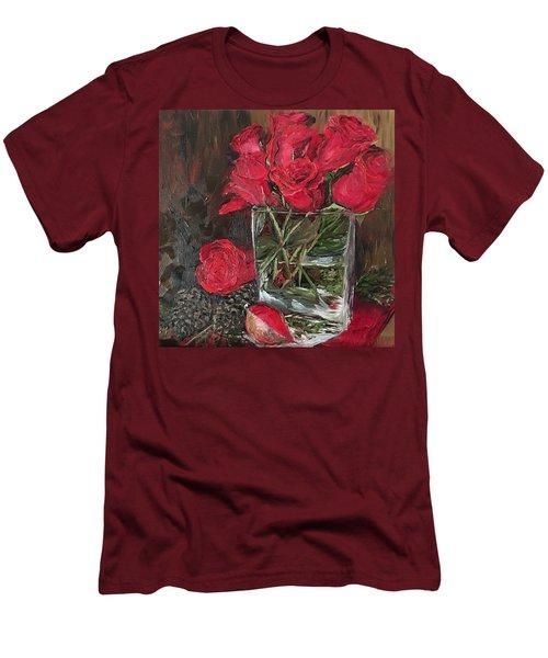 Christmas Roses Men's T-Shirt (Athletic Fit)