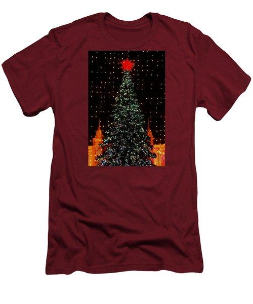 Christmas Tree  Men's T-Shirt (Slim Fit) by John Wartman