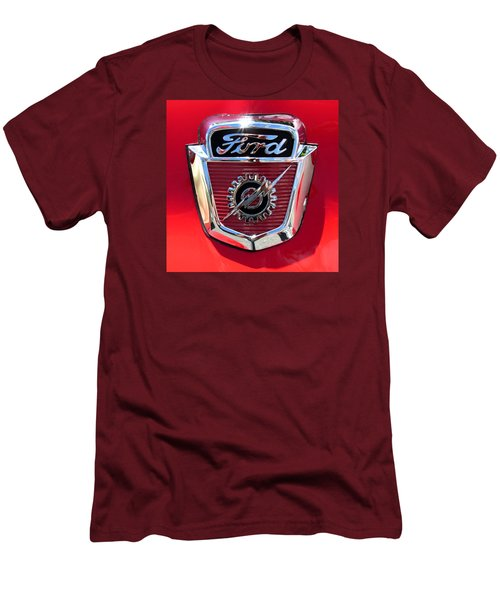 Men's T-Shirt (Slim Fit) featuring the photograph Classic Ford Logo by Spyder Webb
