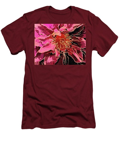 Clematis Up Close And Personal Men's T-Shirt (Athletic Fit)