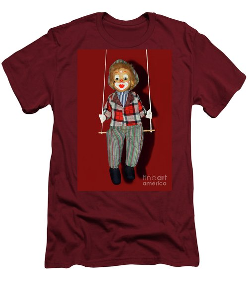 Men's T-Shirt (Athletic Fit) featuring the photograph Clown On Swing By Kaye Menner by Kaye Menner