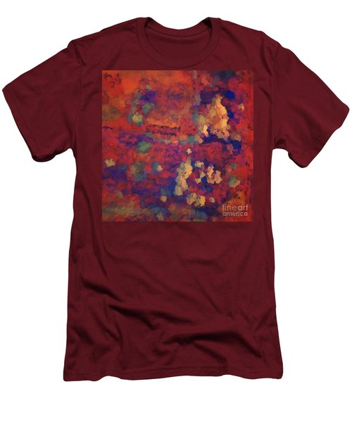 Color Abstraction Xxxv Men's T-Shirt (Athletic Fit)