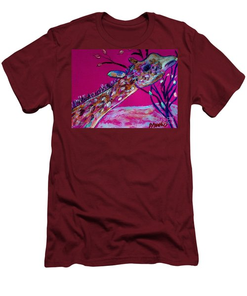 Colorful Giraffe Men's T-Shirt (Athletic Fit)