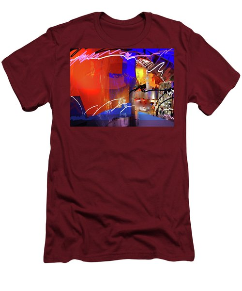 Men's T-Shirt (Athletic Fit) featuring the digital art Concert Stage by Walter Fahmy