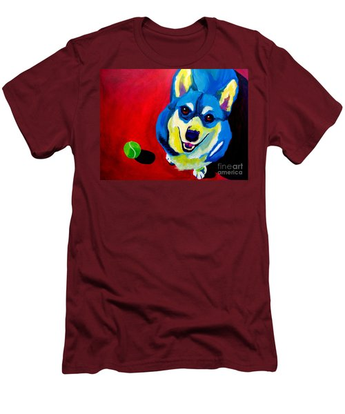 Corgi - Play Ball Men's T-Shirt (Athletic Fit)