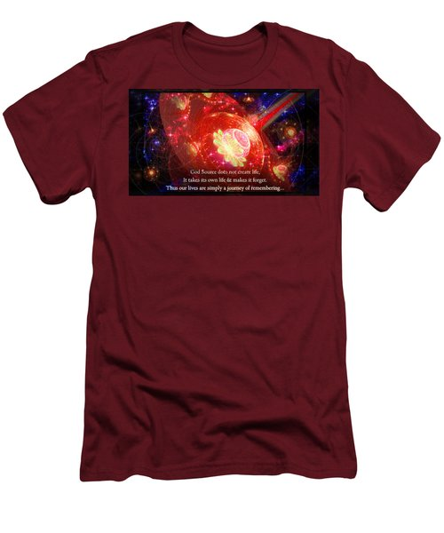 Men's T-Shirt (Athletic Fit) featuring the mixed media Cosmic Inspiration God Source 2 by Shawn Dall