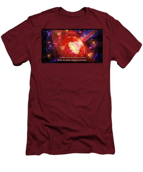 Men's T-Shirt (Athletic Fit) featuring the mixed media Cosmic Inspiration God Source by Shawn Dall