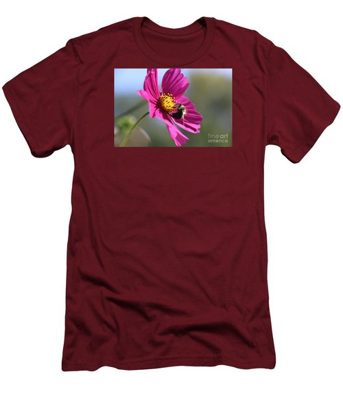 Cosmos With Bumblebee Men's T-Shirt (Slim Fit) by Yumi Johnson