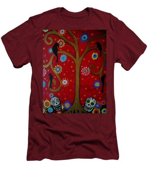 Couple Day Of The Dead Men's T-Shirt (Slim Fit) by Pristine Cartera Turkus