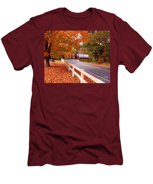 Covered Bridge In Brattleboro Vt Men's T-Shirt (Athletic Fit)