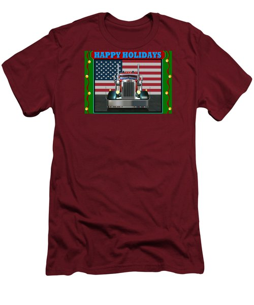 Men's T-Shirt (Slim Fit) featuring the digital art Custom Pete Happy Holidays by Stuart Swartz