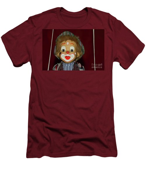 Men's T-Shirt (Athletic Fit) featuring the photograph Cute Little Clown By Kaye Menner by Kaye Menner