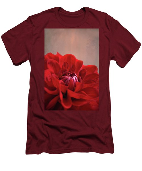 Men's T-Shirt (Slim Fit) featuring the photograph Dahlia Dalliance  by Marion Cullen